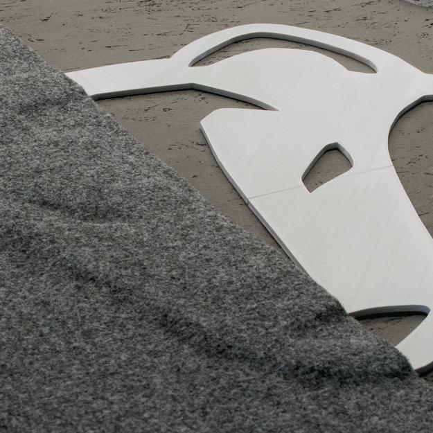 3D-Druck Adventure Truck Wolf und dunkelgraues Carpet-Filz