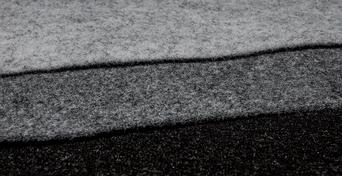 Drei Filzstoffe übereinander Hellgrau, Dunkelgrau Anthrazit