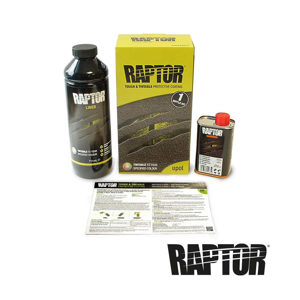 U-POL Raptor Beschichtung Flaschen box inhalt