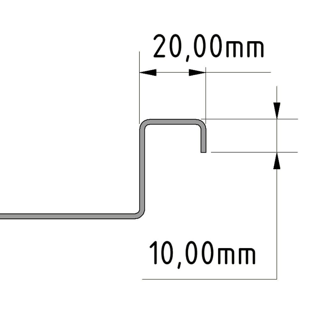 Camper Duschwanne Standart Rand 20mm und 10mm Doppelt gekantet