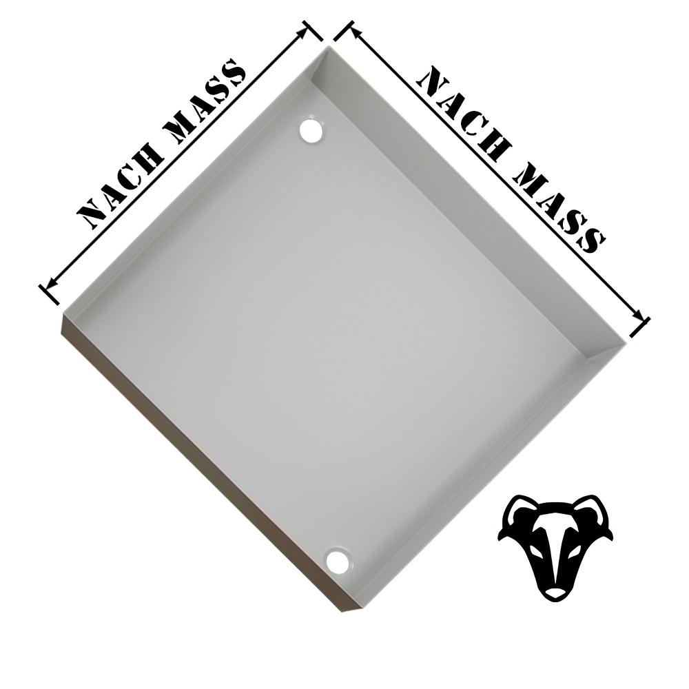 Duschtasse 650x650 nach maß Aluminium Pulverbeschichtet Lichgrau