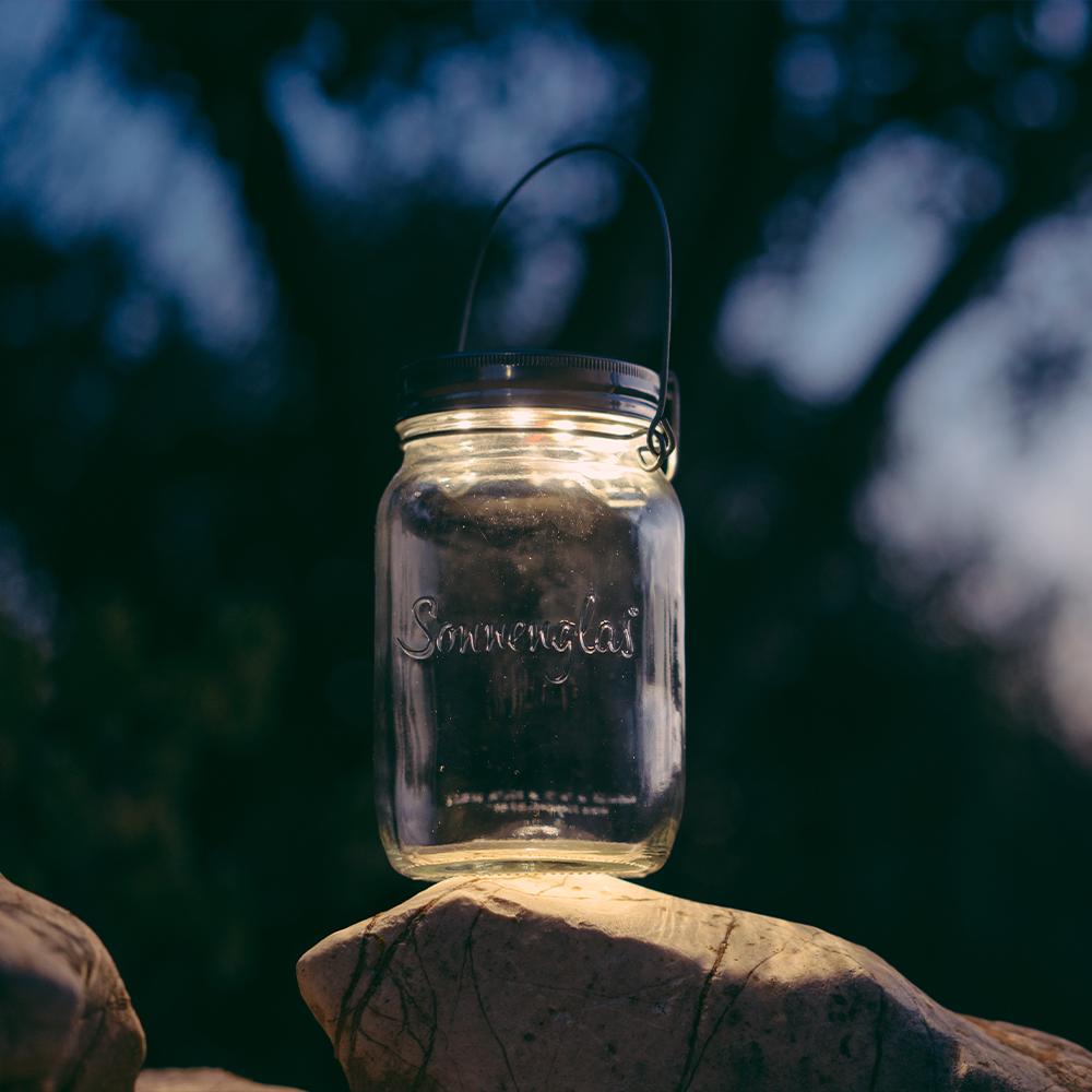 Sonnenglas Solarlampe 24h Autarke Lichtquelle DIY Camping Abenteuer