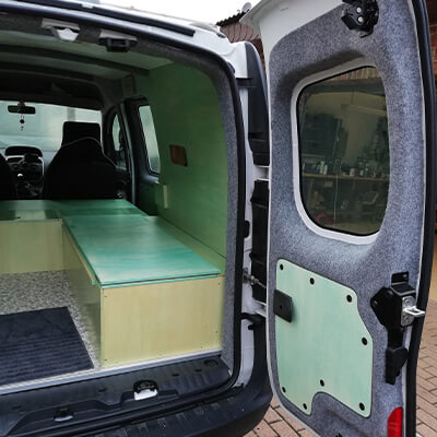 Adventure Truck Nachschlagewerk Renault Kangoo Maxi Carpet Filz nachbereitung b4f Steingrau