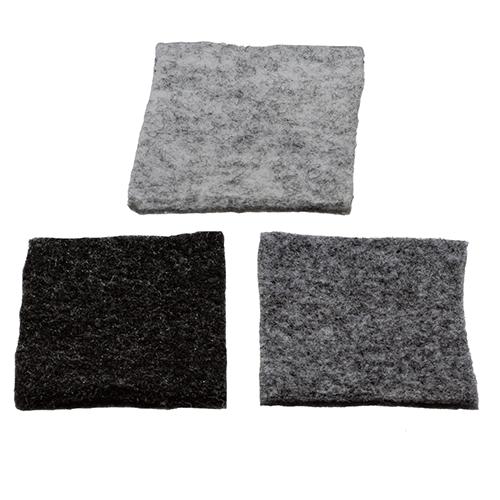 Carpet Filz Muster in hellgrau, dunkelgrau und anthrazit